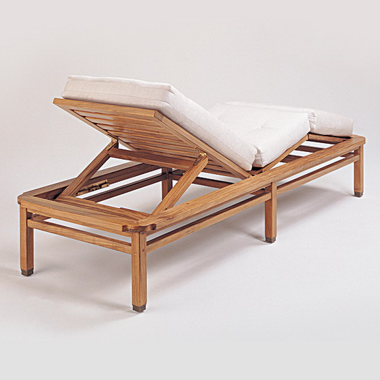Teak Furniture Paradiso Paradiso Chaise Lounge With Cushion